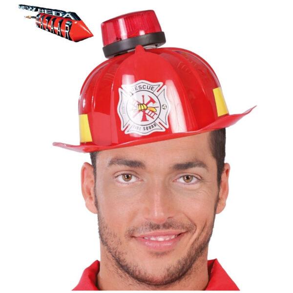 casco pompiere con sirena