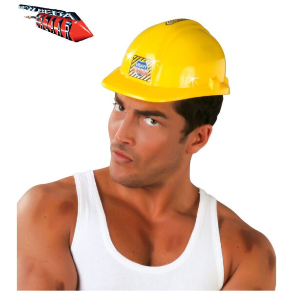 casco giallo da cantiere