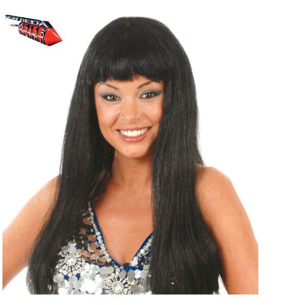 Parrucca nera lunga