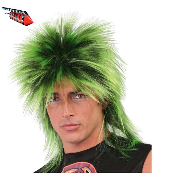 Parrucca Punk verde