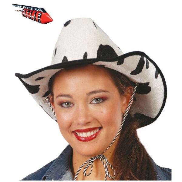 Cappello cowboy a pois