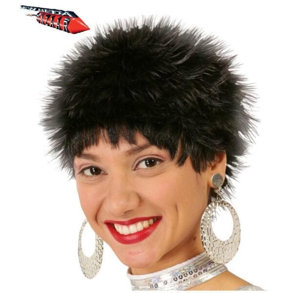 Parrucca nera corta
