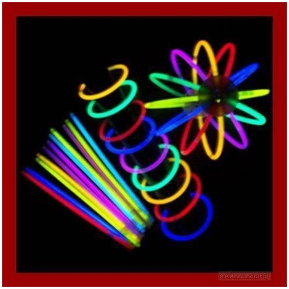 OFFERTA Braccialetti Glow-sticks 100pz multicolore