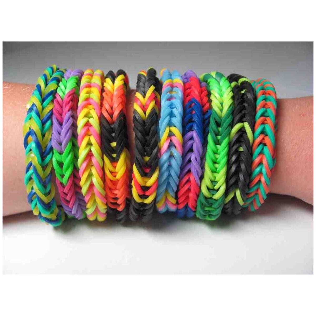 SUPER OFFERTA 100 Pz Elastici Neon Loom Bands