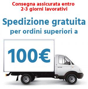Spedizione gratuita per ordini superiori a 150€